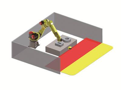 LSPD安全激光扫描仪应用图固定危险区域防护