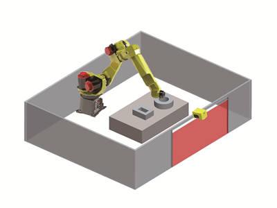 LSPD安全激光扫描仪应用门禁防护图