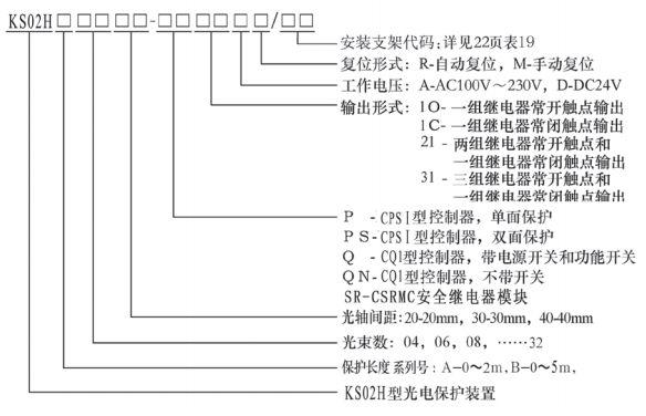 KS06型光电保护装置规格型号